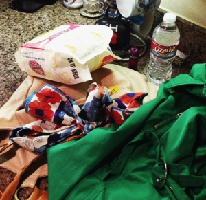 All the crap I loaded into my purse.